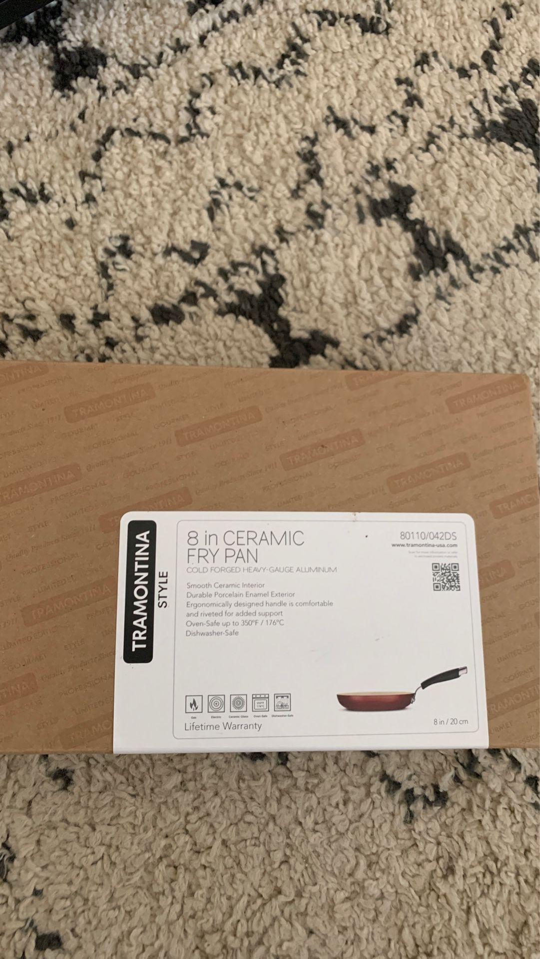 Brand new Tramontina 8 inch ceramic Fry Pan- brand new