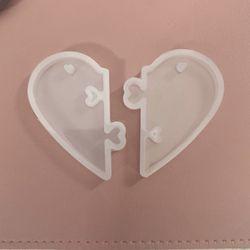 Locking Heart Silicone Keychain Molds (set of 2) Thumbnail