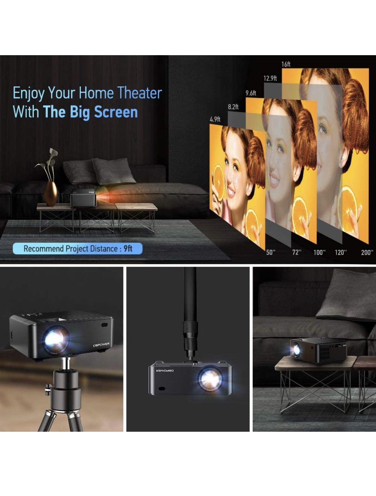 Projector- Connect Phone and Laptop- Brand New