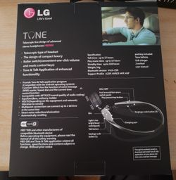 3 ITEMS LG HBS900 HEADPHONES Thumbnail