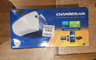 Chamberlain 1/2 HP Equivalent AC Belt Drive Smart Garage Door Opener with Medium Lifting Power With WiFi Options To Control From Phone Thumbnail