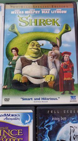 DVD kid movies Antz, Shrek, Ice Age, The Prince of Egypt, Corpse Bride Thumbnail