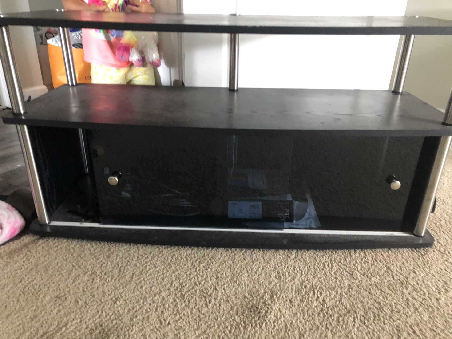 Glass Entertainment Table