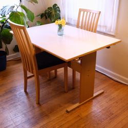 Vintage Gangso Møbler table & 2 matching Skovby chairs Thumbnail