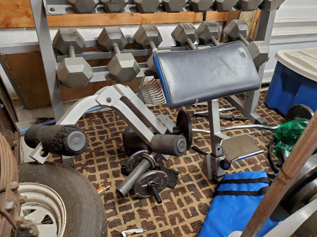 Nautilus Home gym and extras