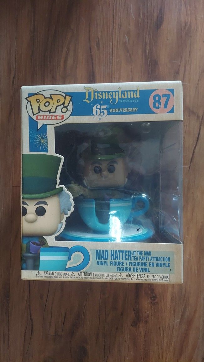 Funko Pop Rides Disneyland Mad Hatter At The Mad Tea Party