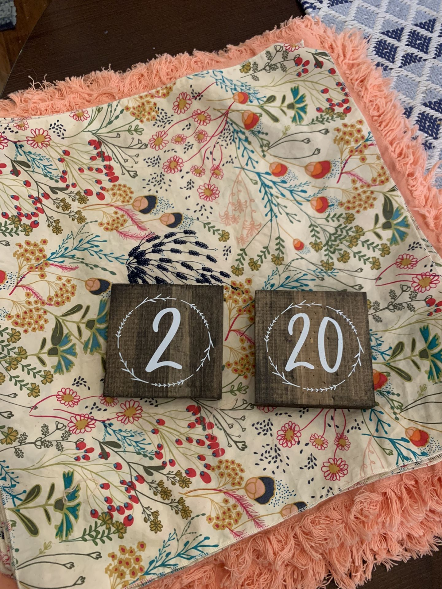 Wedding Table Numbers 1-20