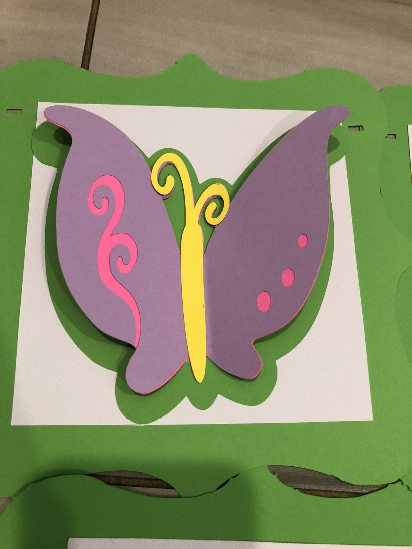 3D Butterfly Birthday Banner- Garden/Floral/Butterfly Themed Party