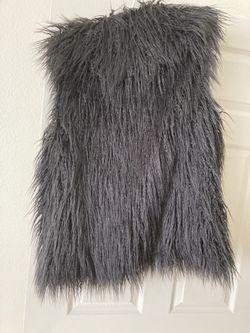 Women's Size Lg Halston Faux Fur Vest(New) Tags Thumbnail