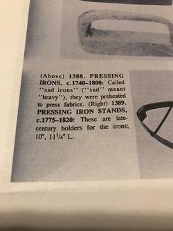 Hand Pounded Metal Sad Iron Thumbnail