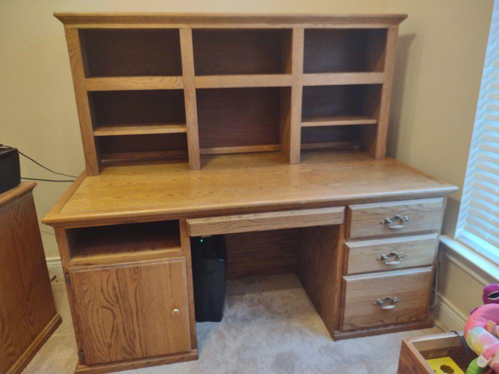 Desk  Solid Oak for  Home or Office