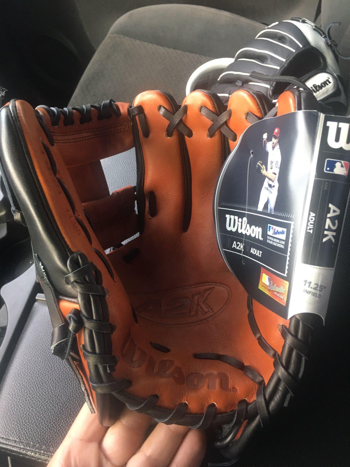 New Wilson A2k baseball glove 11.25 $240 obo