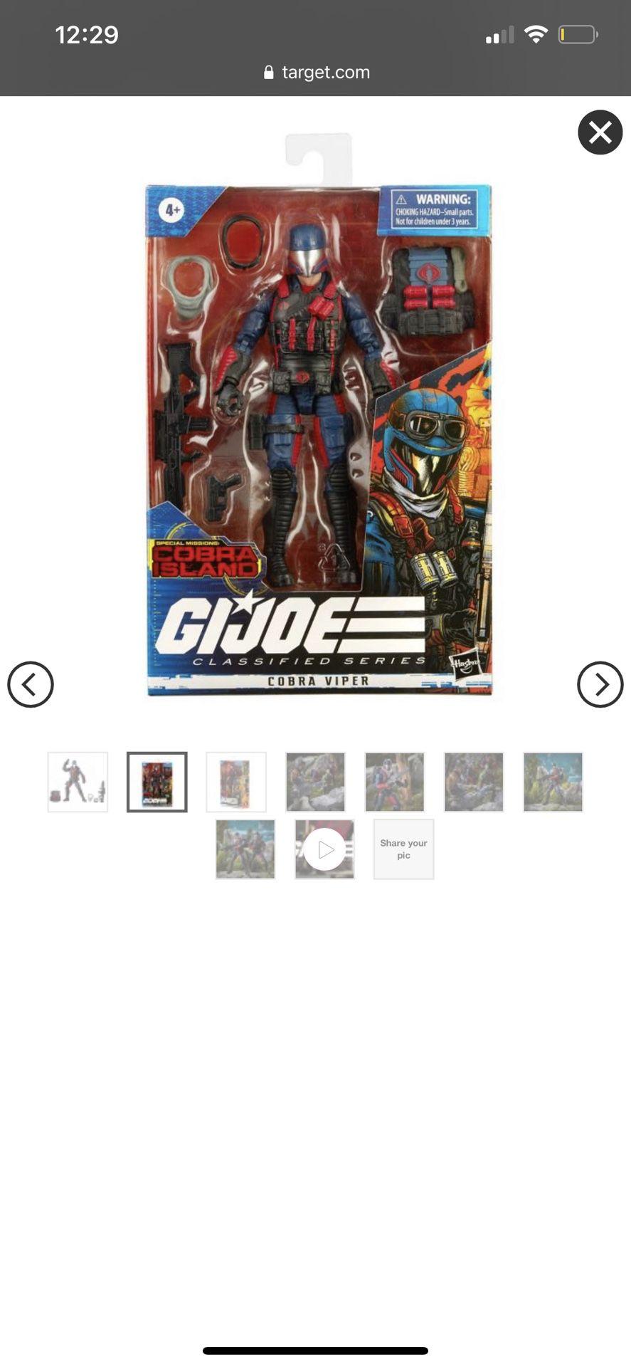 G.I. Joe Classified Series Special Missions: Cobra Island Firefly, Sealed box