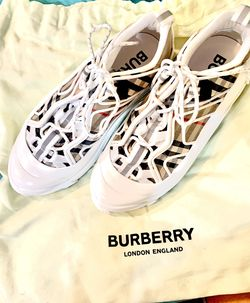 10010Burberry Arthur Check Sneakers SizeWith 7 Men's 8 1/2 Women's  Thumbnail