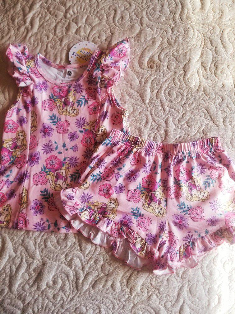 Girls Rapunzel pajamas  Size 2T,3