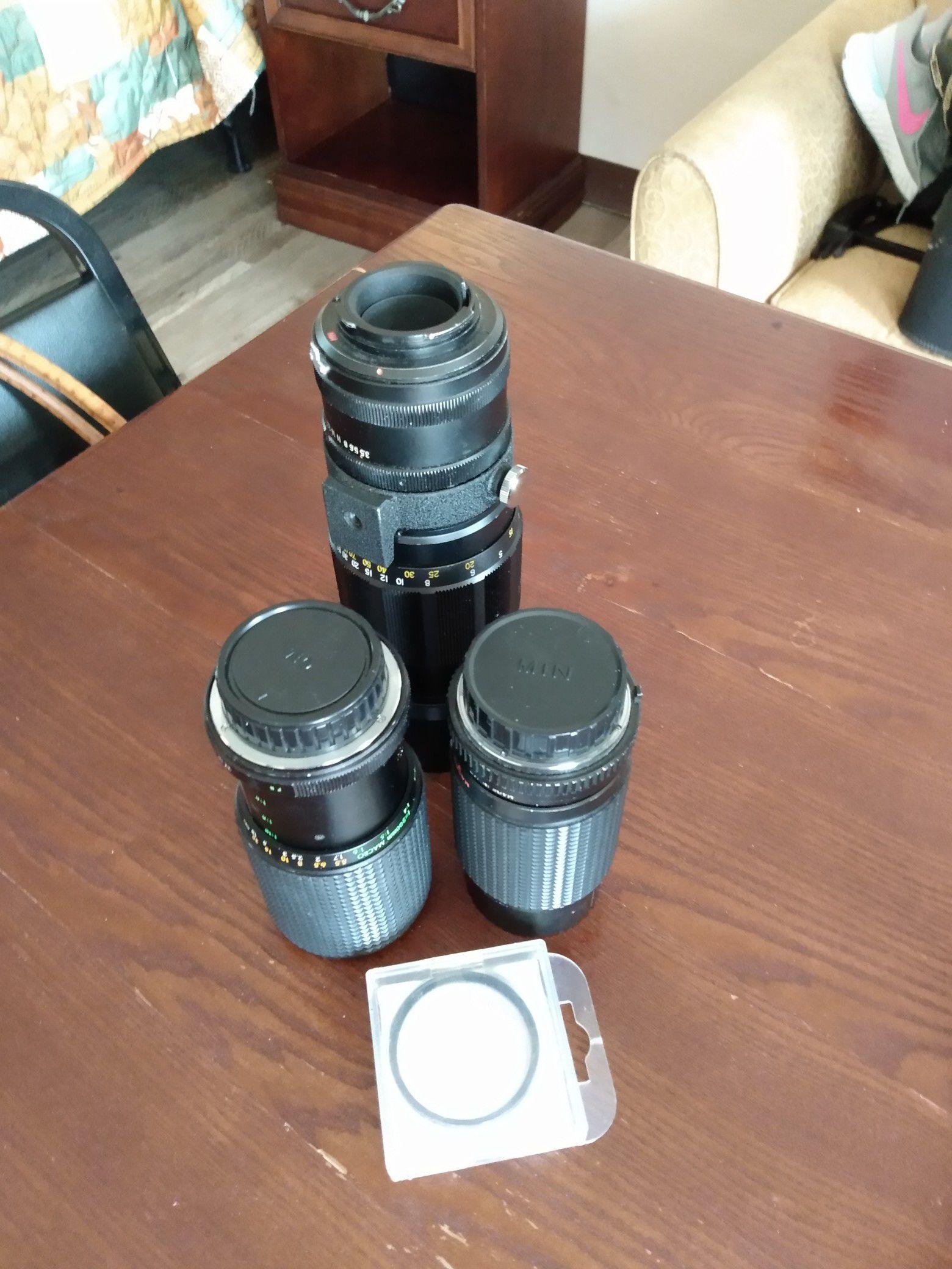 Canon camera lenses