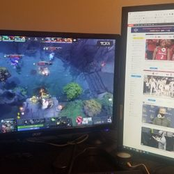 """Dual Monitor Set-up 27"""" Acer and 24"""" Asus LED With Dual Stand  Thumbnail"""
