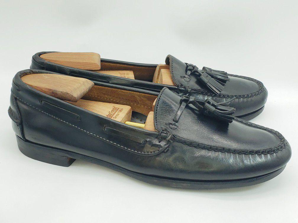 Cole Haan Men's Black Tassel Loafers Dress Shoes Slip On Oxfords Size 11.5 C