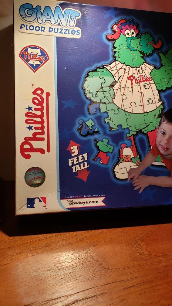 Sealed Phillies Floor Puzzle 3ft big.