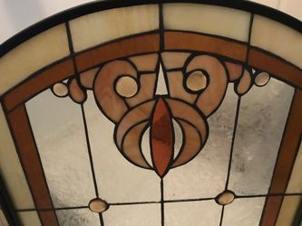 Beautiful Stained Glass Fireplace Screen Thumbnail