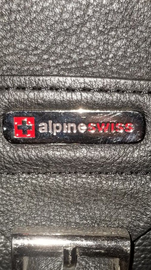 Alpine Swiss Leather Carrying Bag/backpack