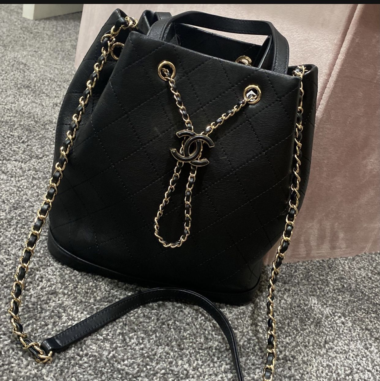 Chanel Bucket Bag Purse Crossbody