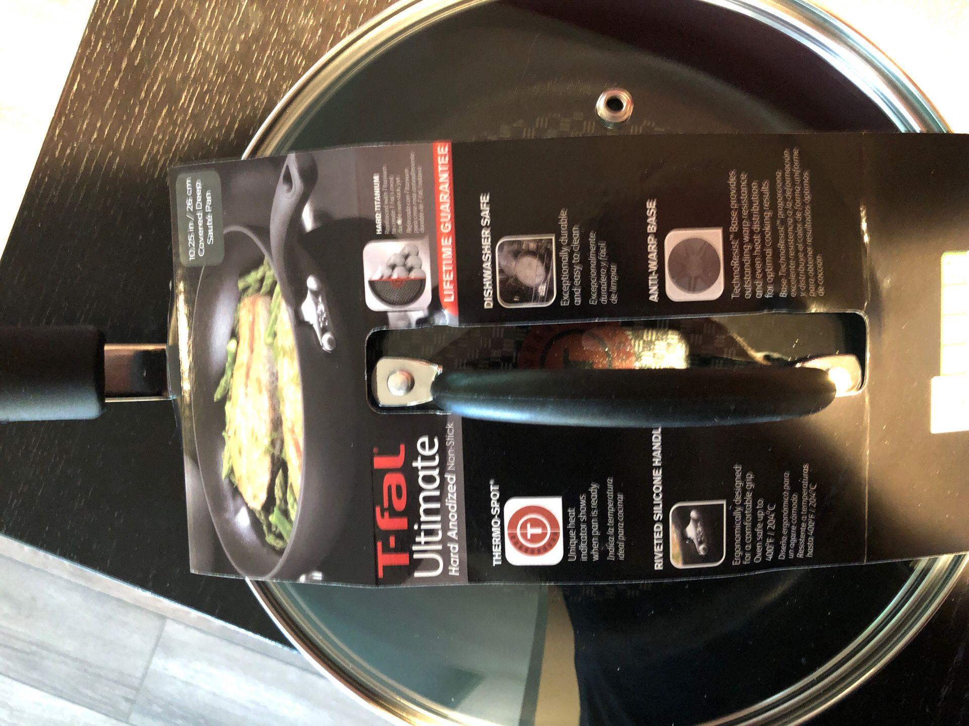 T-fal 10inch Deep Sauté/Frying Pan - BRAND NEW