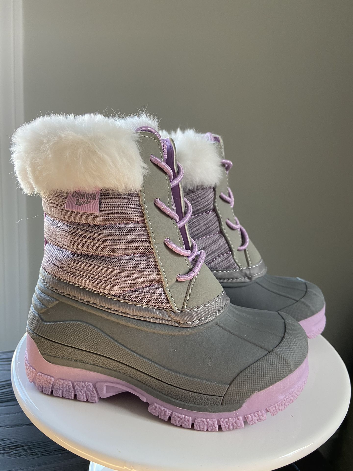 Size 6: Toddler Snow Boots & Toddler Suede Booties