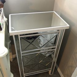 Glass Mirror Night Stand/makeup Table  Thumbnail