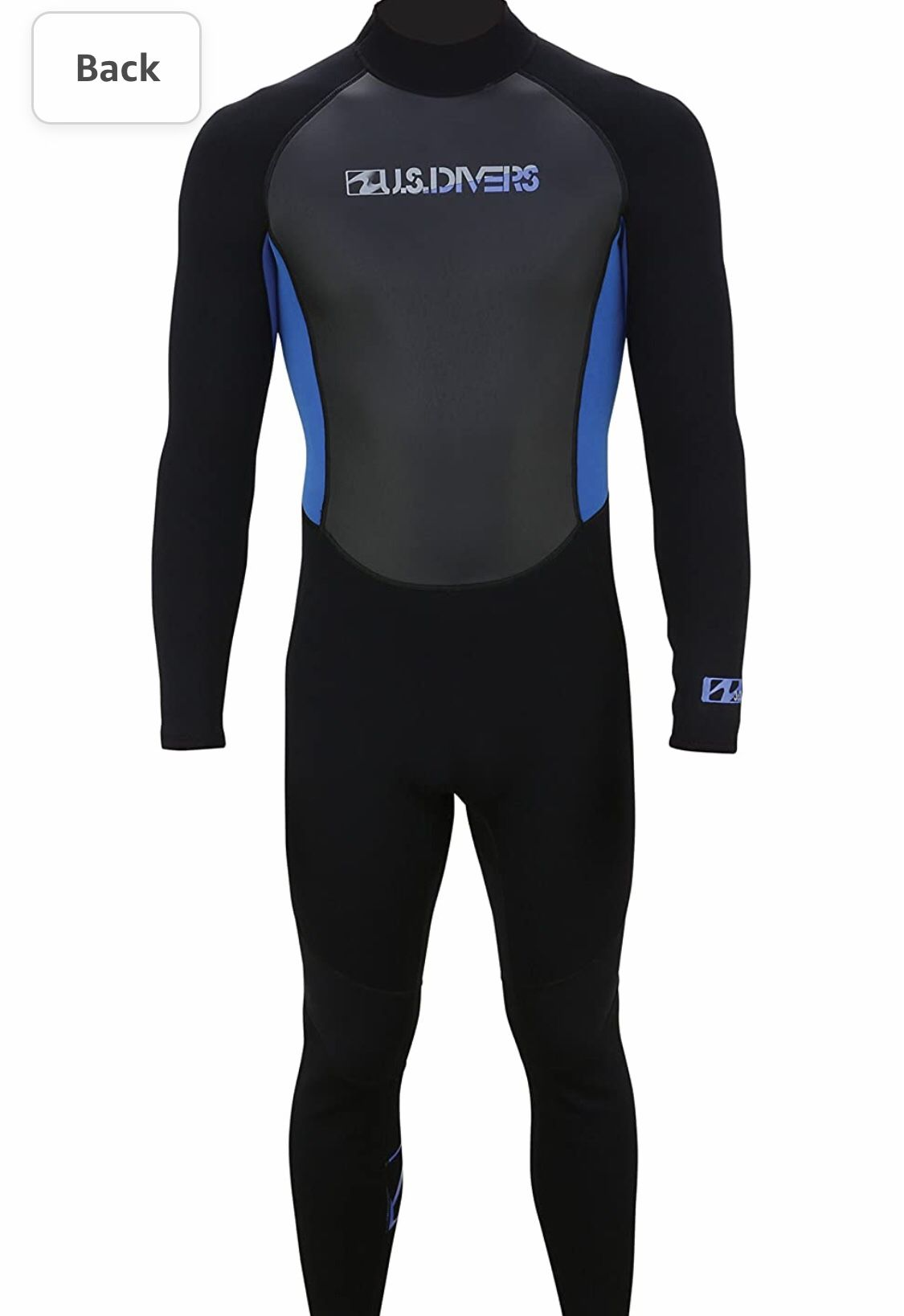 U.S. Divers 3.2mm Adult Full Wetsuit, Black/Blue