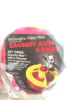 Complete Set Of McDonald's Raggedy Ann & Andy Thumbnail