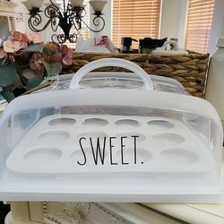 Rae Dunn Sweet Cupcake Holder/Dessert Carrier Thumbnail