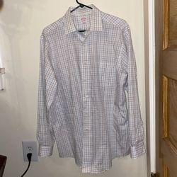 Brooks Brothers White Plaid Dress Shirt Thumbnail