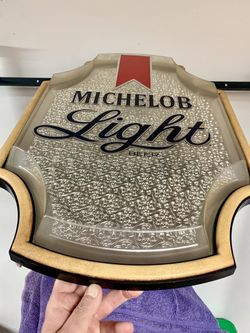 Michelob Light beer vintage plastic bar sign Thumbnail