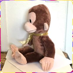 """2019 Applause by Russ CURIOUS GEORGE 16"""" PLUSH TOY Stuffed Animal Monkey Kohls Thumbnail"""