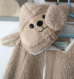 Cozy Critters Soft Lamb Hooded Poncho Thumbnail