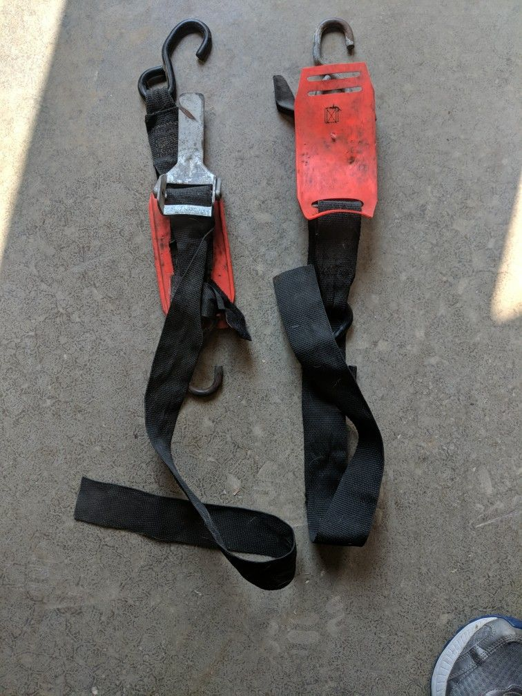 Adjustable Transom Tie Down Straps with Quick Release Buckle for Boat Trailer