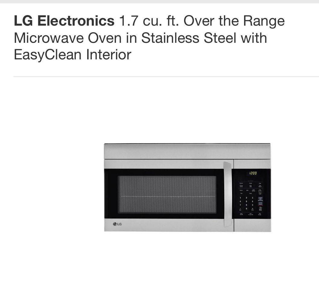 LG Microwave PRICE DROP