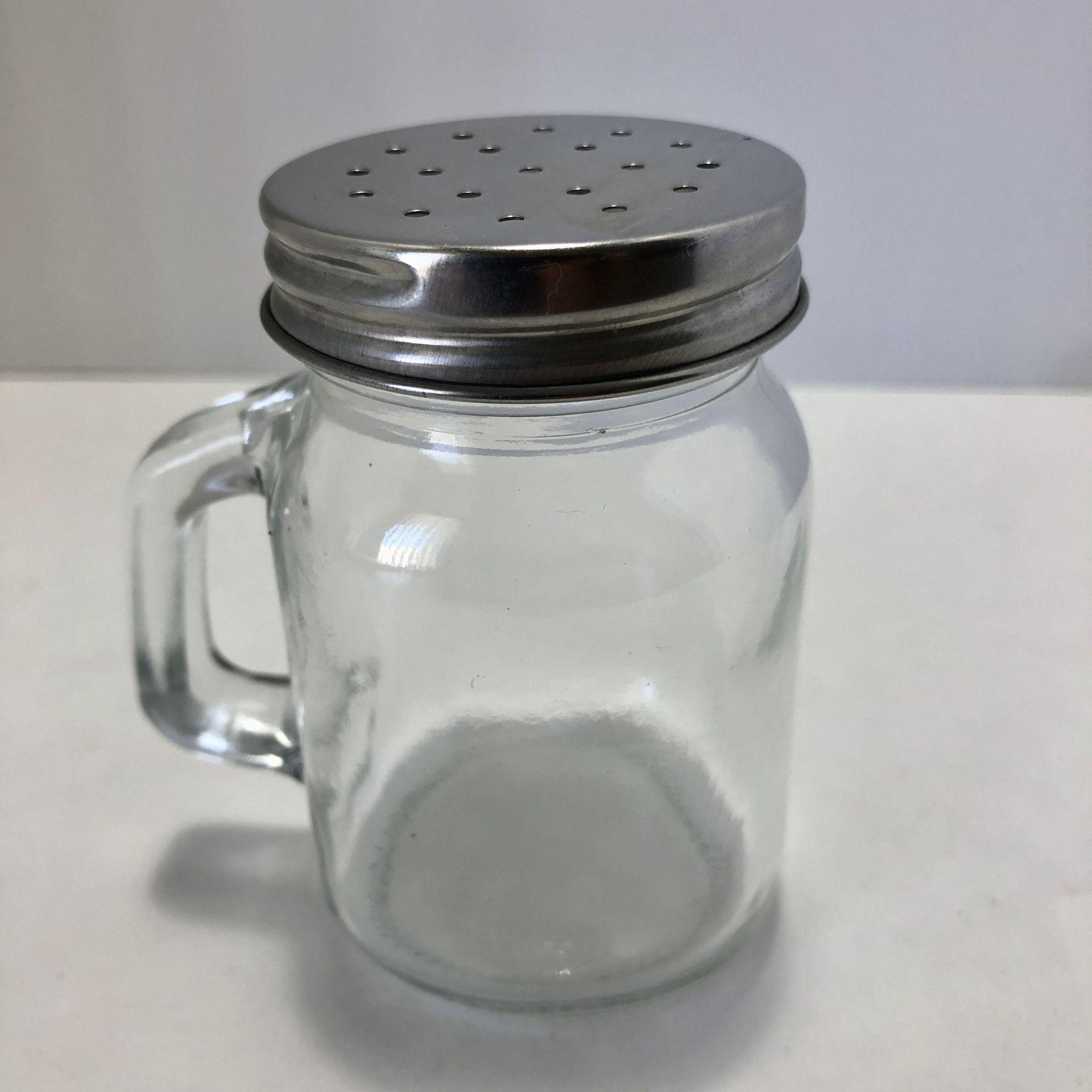 Salt Spice Shaker Mason Jar Stainless Steel Cap