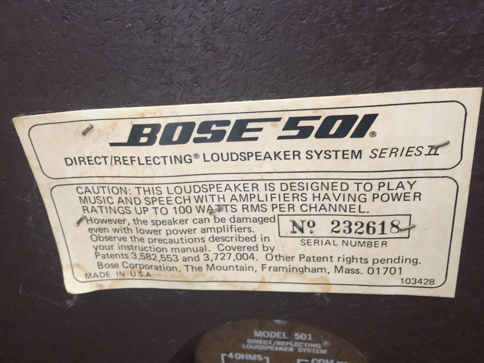 Vintage Bose 501's (series II)