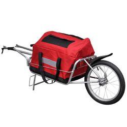 Bìcycle Càrgo Tràiler One-wheel with Stōrage Bag Thumbnail