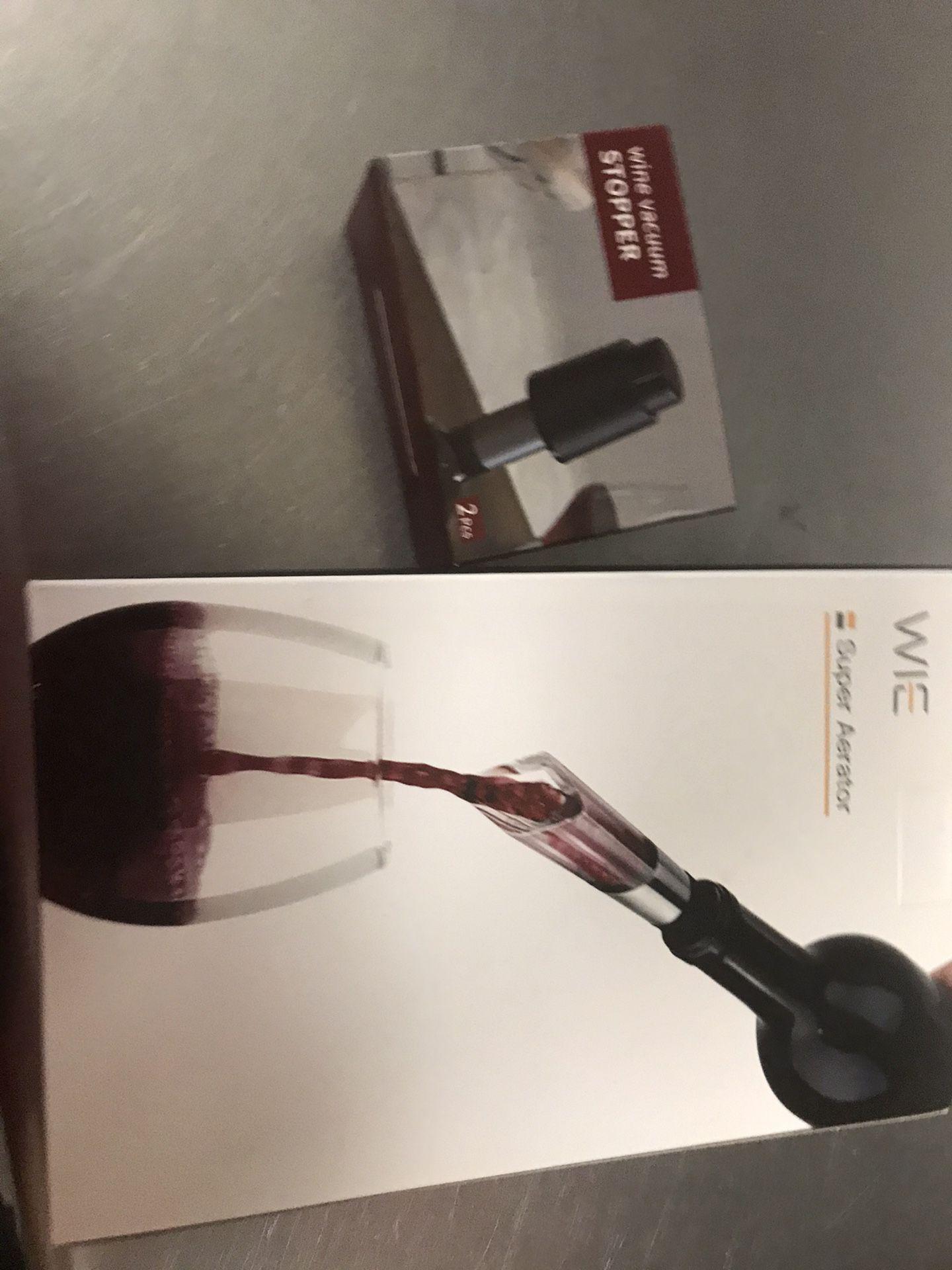 Wine Vacuum Stopper And Wine Saver Set