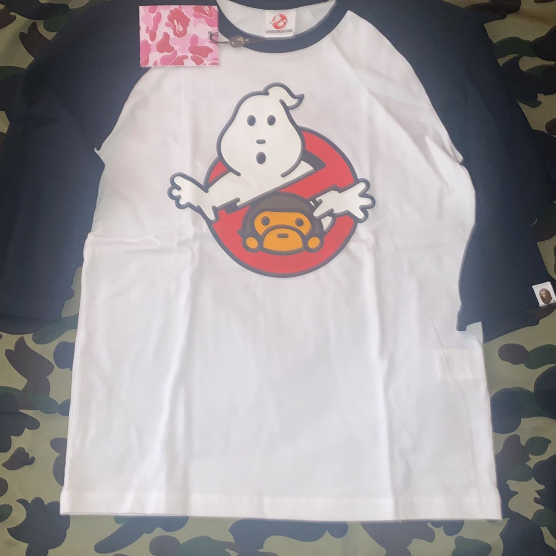 Brand Brew Ghost Buster Bape Baseball T-shirt