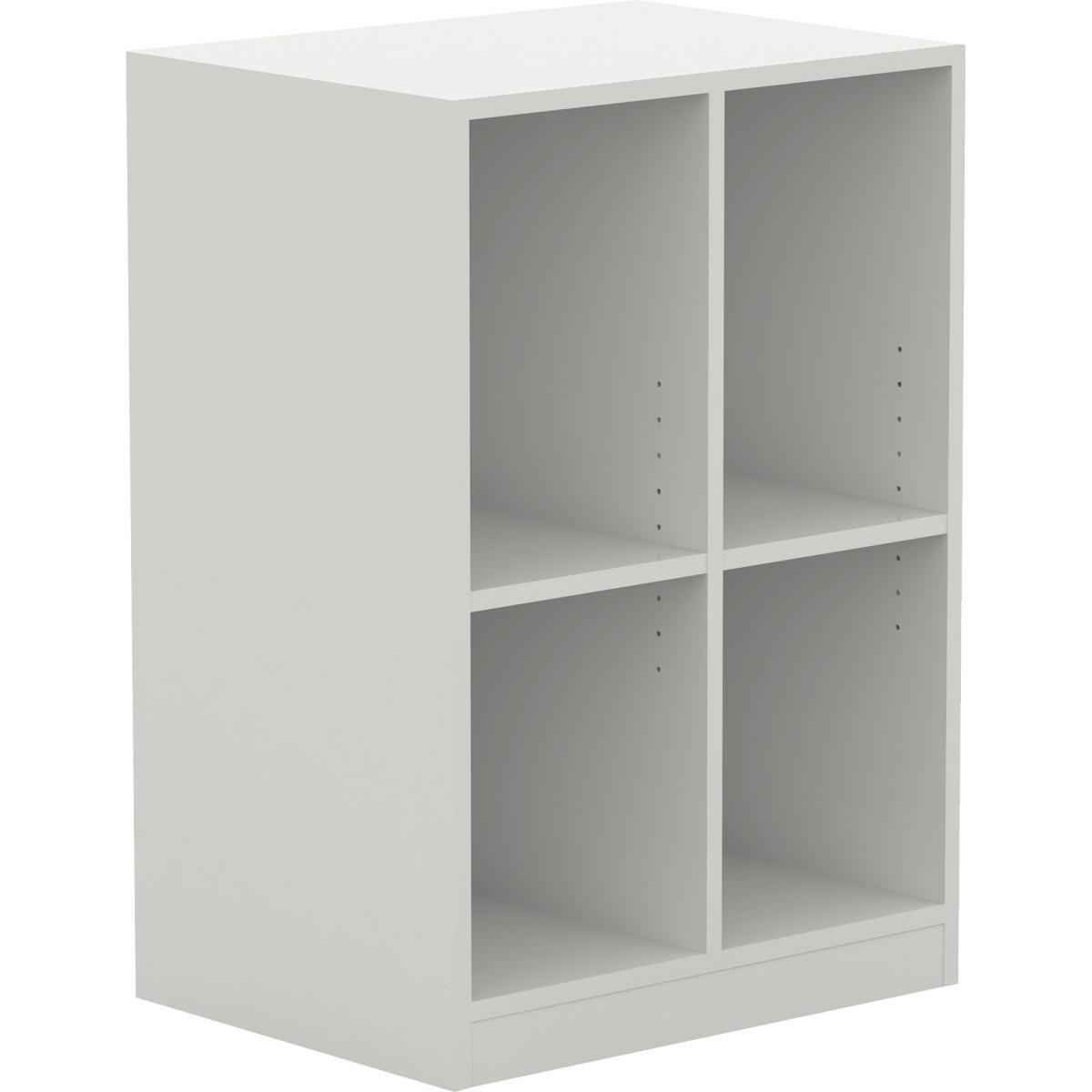 Lorell LLR42401 23.6 x 17.8 x 34.4 in. Double Cubby & Locker Storage Base, White
