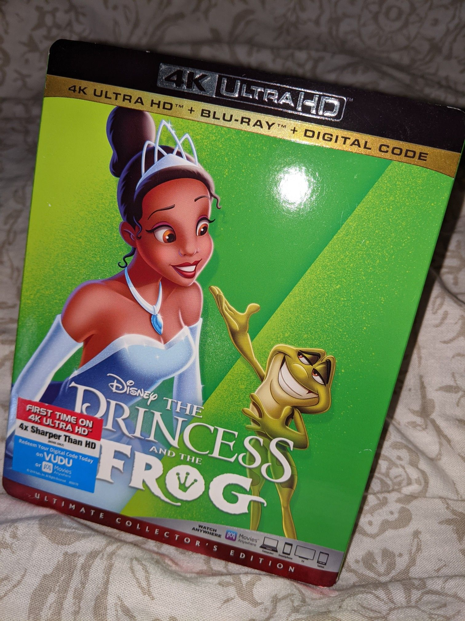 Princess and the frog 4k Blu-ray with digital code