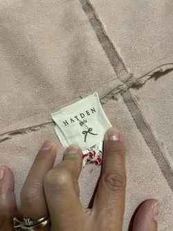 Girls 11/11 Pink Blush Suede Sherpa Fur Vest Thumbnail