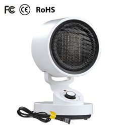 (NEW) 1500W Tabletop Portable Oscillating Ceramic Heater with Cooling Fan For Offices, Bedrooms, Classrooms, Basements Thumbnail