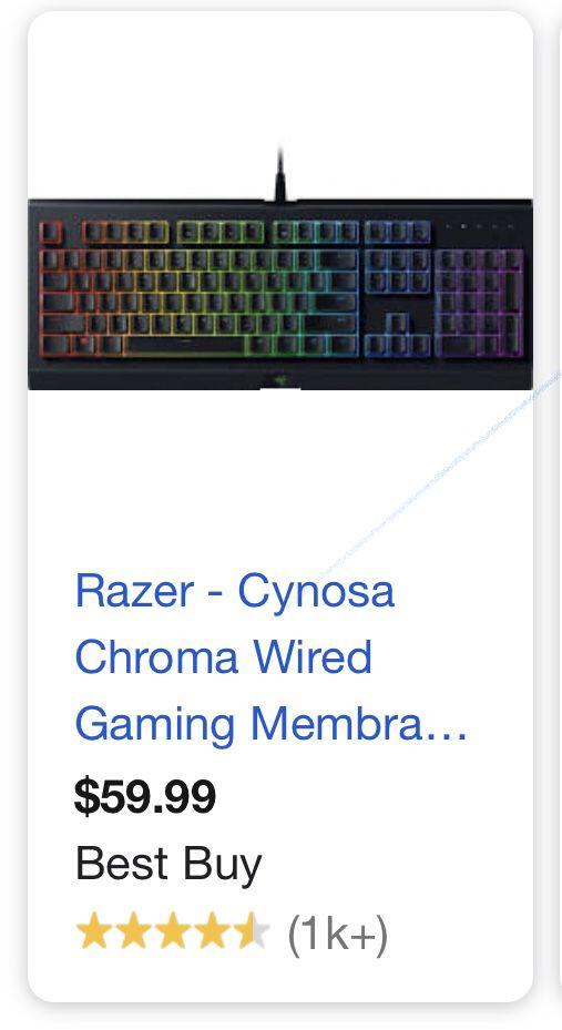 Razor keyboard new led