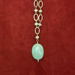 Lia Sophia retired Tahoe green turquoise necklace Thumbnail