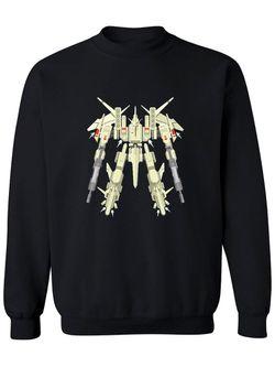 Smartprints Military Robot Mecha Design Sweatshirt Men's -Image by Shutterstock Black Size S Thumbnail